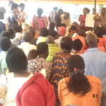 4staff during hygiene education to clients