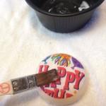 紙ナプキンを乗せもう一回ボンドを塗ります。