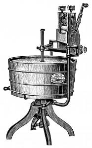 19世紀手動の洗濯機